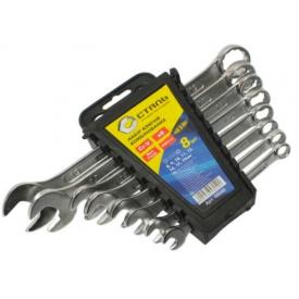 Набор ключей комбинированных Сталь 8 шт, пластиковая упаковка с подвеской (65921)