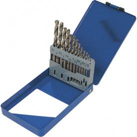 22-090 Набір свердел по металу Р 6 М 5 білих 2,0-8,0 мм 13 шт мет коробка