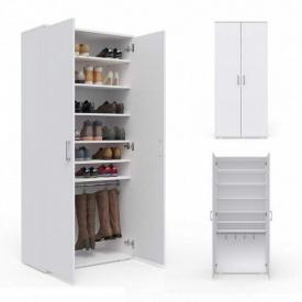 Шкаф с полками для одежды и обуви Nils 1780x800x390 Белый