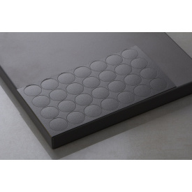 Заглушка самоклеющаяся Folmag для минификса к U 960 Оникс серый 28 шт