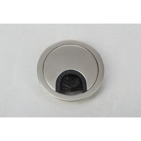 Заглушка под провода GTV круглая сатин(пропуск для кабеля)