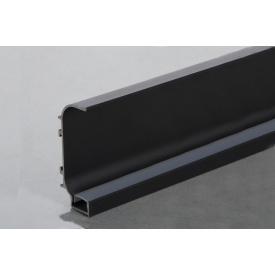 Профиль C образный для фасадов без ручек (ФБР) с пазом под LED-подсветку 5950 мм черный
