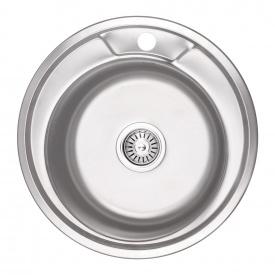 Кухонная мойка Lidz 490-A 0,8 мм Micro Decor (LIDZ490AMICDEC)