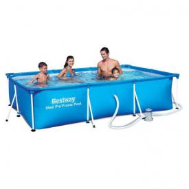 Детский каркасный бассейн Bestway 56411 (300x201x66 см) с картриджным фильтром