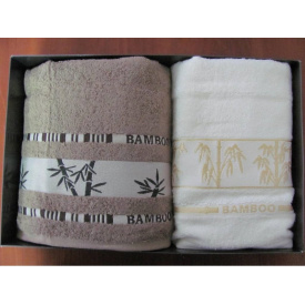 Набор полотенец Arya Бамбук Bonita 2 шт Темно-коричневый