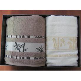 Набор полотенец Arya Бамбук Bonita 2 шт Светло-серый