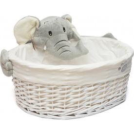Кошик Natural House Слоненя овальна біла S