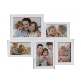 Мультирамка для фото Angel Gifts 5 в 1 біла (BIN-112218)