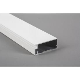 Алюминиевый рамочный профиль для мебельных фасадов М 12 5,95 м белый