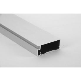 Алюминиевый рамочный профиль для мебельных фасадов М 12 5,95 м алюминий Brush