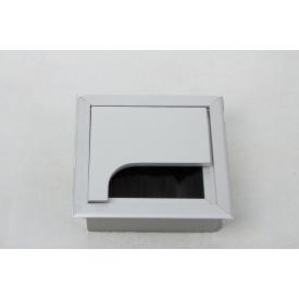 Заглушка под провода GTV квадратная алюминий(пропуск для кабеля)