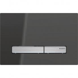 Смывная клавиша Geberit Sigma50 двойной смыв металл хромированный и зеркальное дымчатое стекло 115.788.SD.2