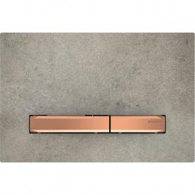 Клавиша смыва Geberit Sigma50 двойной смыв цвет красное золото и керамика под бетон 115.670.JV.2