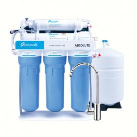 Фильтр обратного осмоса Ecosoft Absolute 5-50Р с помпой на станине MO550PSECO