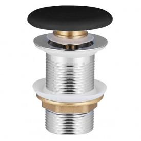 Донный клапан Volle сlicк clаck c черной керамической крышкой латунь 1 1/4 90-00-77Bl