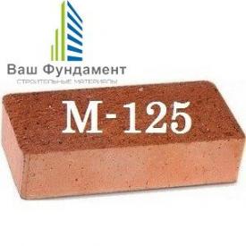 Кирпич рядовой полнотелый М-125 250х120х65 мм