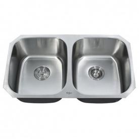 Кухонна мийка KRAUS вбудована знизу 819x469x228 мм хром KBU22