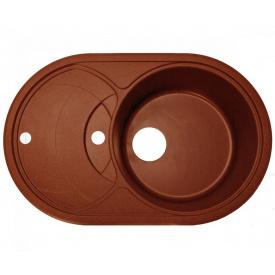 Кухонна мийка Adamant SHELL 775х495х200, з сифоном, 11 terracotta