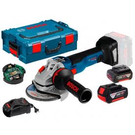 Кутова шліфмашина Bosch Professional GWS 18V-10 SC з регулюванням в L-Boxx 136 з 2 акб 5Ah з/п GAL 1880 CV