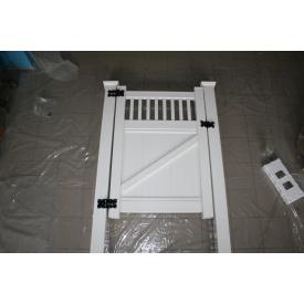 Калитка 1,5х2 м пластиковая из ПВХ