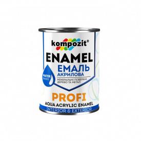 """Емаль акрилова """"PROFI"""" коричнева глянсова 0,8 л"""