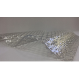 Лист Salux Prisma прозорий хвиля 2,0х1,03 м