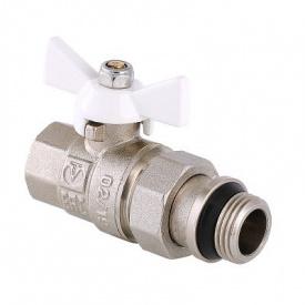 Кран кульовий VALTEC BASE з полусгоном і додатковим ущільненням 3/4 VT.227.NRW.05