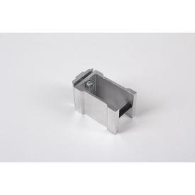 З'єднувальне кріплення до алюмінієвої квадратної труби 40х40 НЕанодируване для меблевих конструкцій