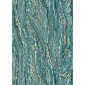 Виниловые обои на флизелиновой основе Erismann ELLE DECORATION 12077-36 Бирюзовый-Золотистый