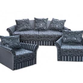 "Комплект Ribeka ""Стелла 2"" диван и 2 кресла Синий (02C01)"