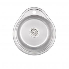Кухонная мойка Lidz 4843 0,6 мм Decor (LIDZ484306DEC)