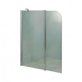 Штора на ванну Lidz Brama SS120x140L.CRM.FR стекло Frost 6 мм, левая