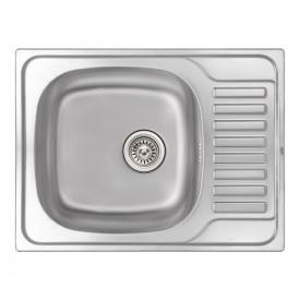 Кухонная мойка Qtap 6550 0,8 мм Micro Decor (QT6550MICDEC08)