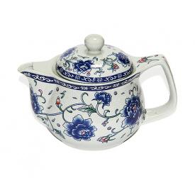 Чайник заварочный O'Lens керамический с металлическим ситом Синий пион 350 мл