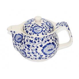 Чайник заварочный O'Lens керамический с металлическим ситом Синяя мальва 350 мл