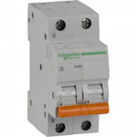 Автоматичний вимикач ВА63 1П+Н 16A C 4,5 кА