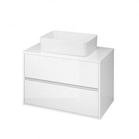 Шкафчик под врезные или накладные умывальники CREA 80 белый