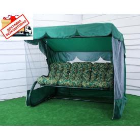 Качель садовая Таити с откидной спинкой и москитной сеткой сентипон 2120x1600x1780 мм 400 кг