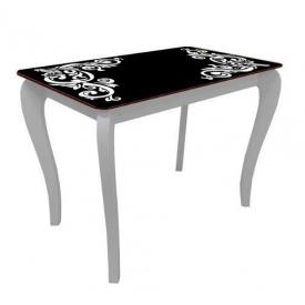 Стол обеденный стеклянный на деревянных ножках Классик 038 покраска 10 мм