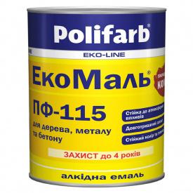 Емаль ПОЛІФАРБ ExtraMal ПФ-115 сіра 0,9кг