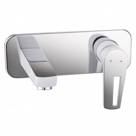 BRECLAV смеситель для раковины настенный хром белый 35мм IMPRESE VR-05245W