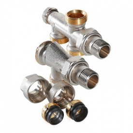 Регулирующий узел для подключения радиатора комплект 1/2х50х3/4 евроконус Valtec VT.225K.N.E04050