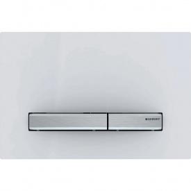 Смывная клавиша Geberit Sigma50 двойной смыв металл хромированный и пластик белый 115.788.11.2