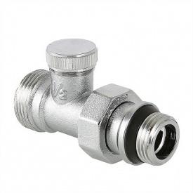 Клапан настроювальний прямий перехід на євроконус 1/2x3/4 Valtec VT.020.NER.04