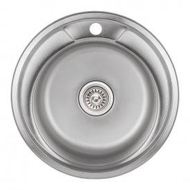 Кухонная мойка Lidz 490-A 0,8 мм Satin (LIDZ490ASAT)
