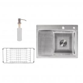 Кухонная мойка Lidz H6350R 3.0/0.8 мм Brush (LIDZH6350RBRU3008)