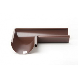 Поворот желоба 90 градусов наружный Plannja 150 коричневый