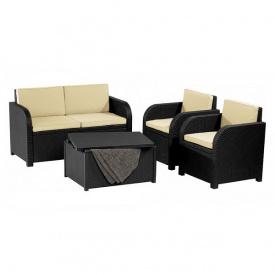 Набор мебели Allibert Maui Lounge Set Modena коричневый