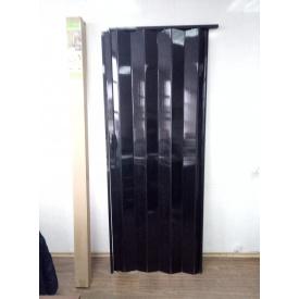 Двери гармошка глухая 810 х 2030 Венге Черный №12