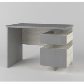 Стіл комп'ютерний Кубик крафт білий/металік 1100х600х750 мм